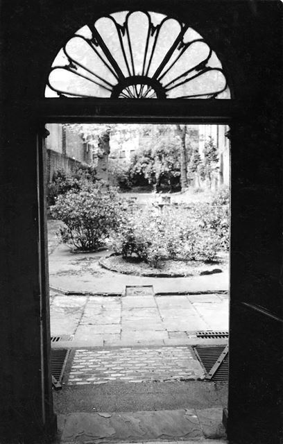 Bromley House - Fanlights and doorway leading to the garden at the rear of the house.
