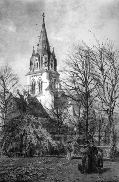 St Barnabas Cathedral, Nottingham, c 1890