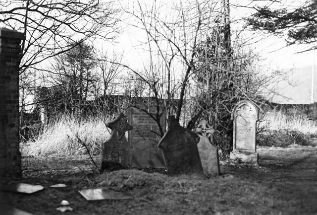 Remains of old Church Yard, Colwick Park, Nottingham,  1983