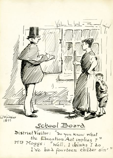 Drawing entitled 'School Board', 1893