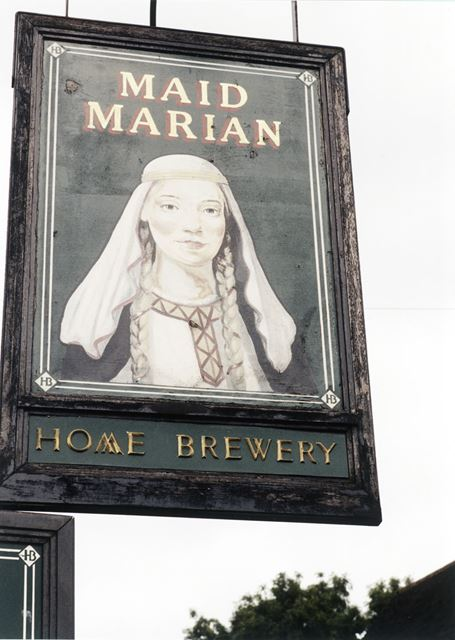Maid Marian Public House Sign, Coppice Road, Arnold, 1998