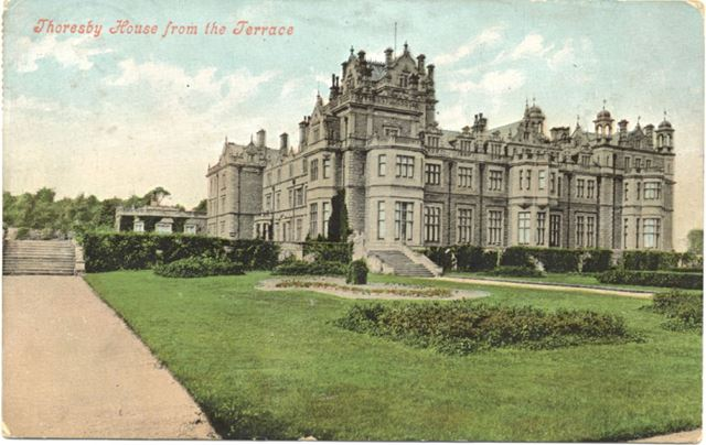 Thoresby House from the Terrace, c 1900s