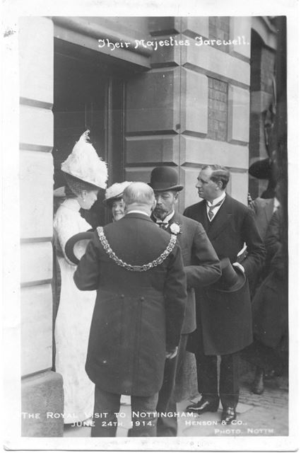 The Royal Visit of King George V and Queen Mary to Nottingham - Their Majesties Farewell