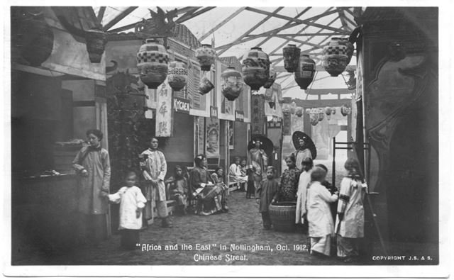 Africa and the east' in Nottingham Oct 1912 Chinese Street
