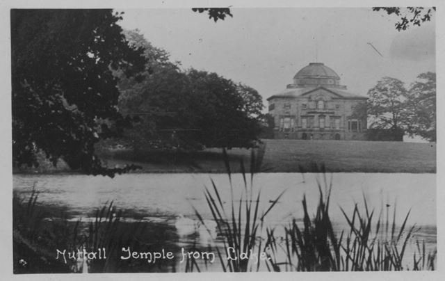 Nuthall Temple from Lake