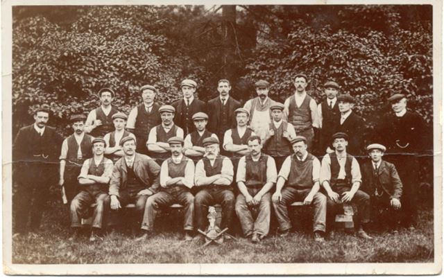 Group of workmen; Perhaps from Home Brewery?, Daybrook, Arnold, c 1910s
