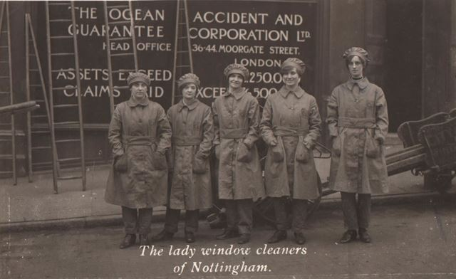 The Lady Window Cleaners of Nottingham'