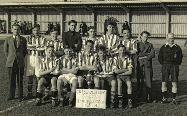 Creswell Evening Institute Football Club, The Huts, Creswell, 1953-54