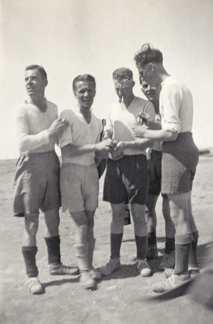 Group of Soldiers Playing Football, Egypt, c 1930s-40s
