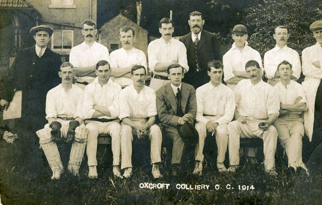 Oxcroft Colliery Cricket Team, Oxcroft, 1914