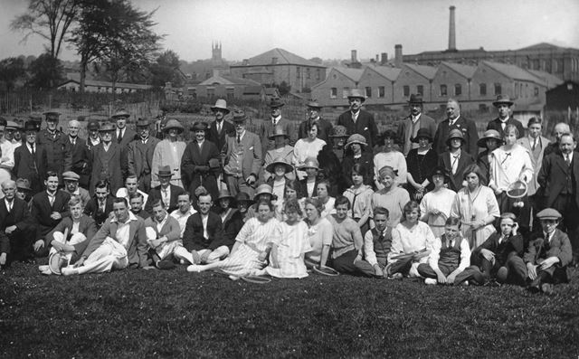 Brettles Factory Tennis Club, off Queen Street, Belper, c 1920s