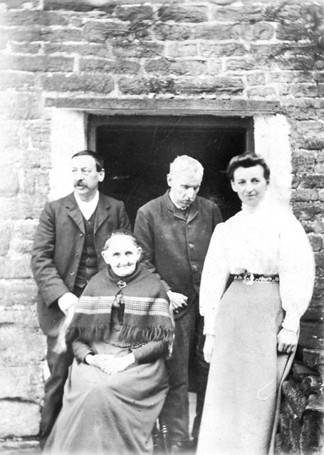 Ann Ratcliffe and Family, Bugsworth, c 1900 ?