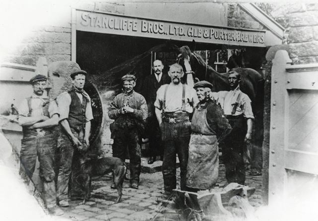 Stancliffe Brothers Brewery, Market Street, Chapel-en-le-Frith, Derbyshire, 1912