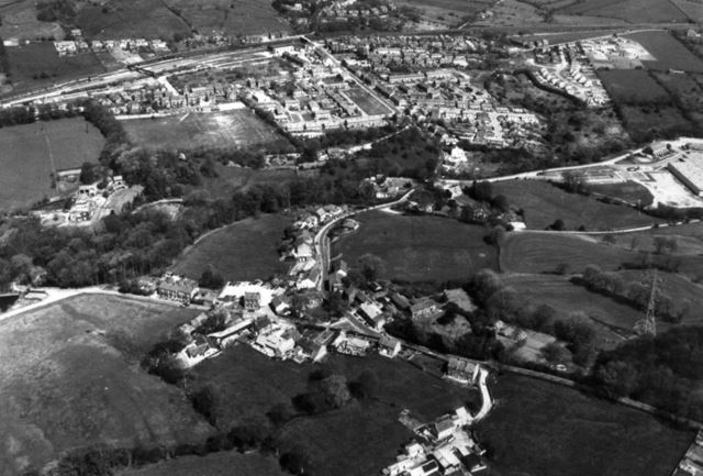 Aerial View of 'Whitehough' and Chinley, 1980