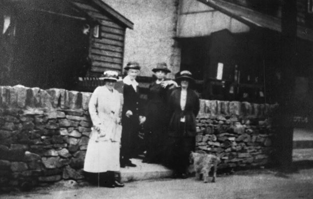 Members outside the Women's Institute, Chinley, c 1910s