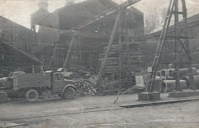 Cupolars and Truck, Former Riddings Ironworks, c 1968