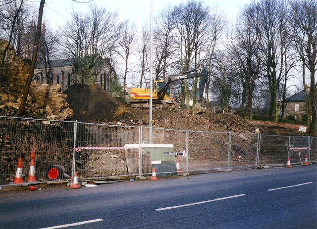 Demolition of Old Stylax Building, Sheffield Road, Chesterfield, 1995