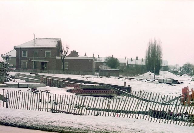 Bypass Construction, Station Road and Victoria Club, Whittington Moor, 1980s
