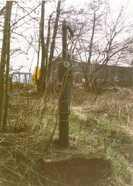 Old Petrol Pump (?), near Old Mill, Station Road, Old Whittington, 1994