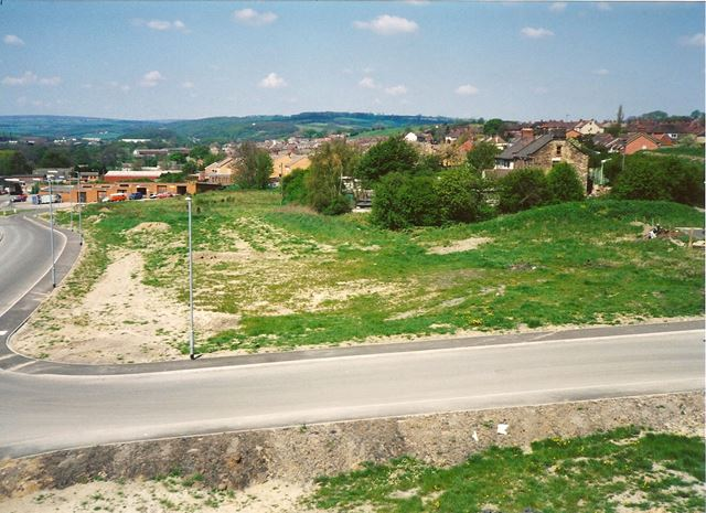 Whitting Valley Road and Wasteground, Old Whittington, late 1990s