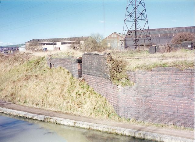 Chesterfield Canal and Remains of Staveley Works Station, nr Station Road, Hollingwood, 1995