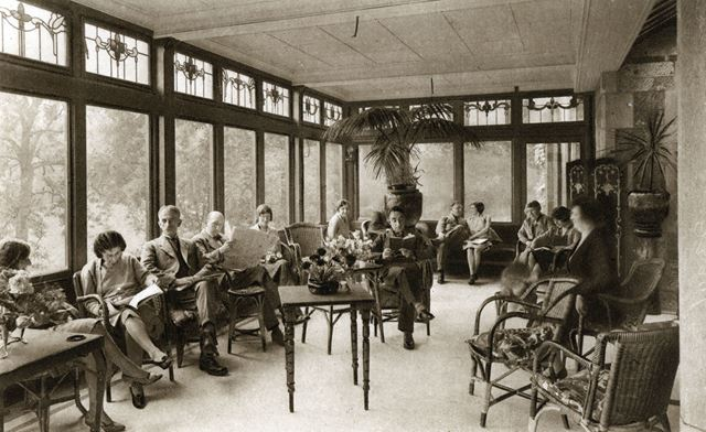 Reading Room, Lilybank Hydro, Chesterfield Road, Matlock, c 1930s