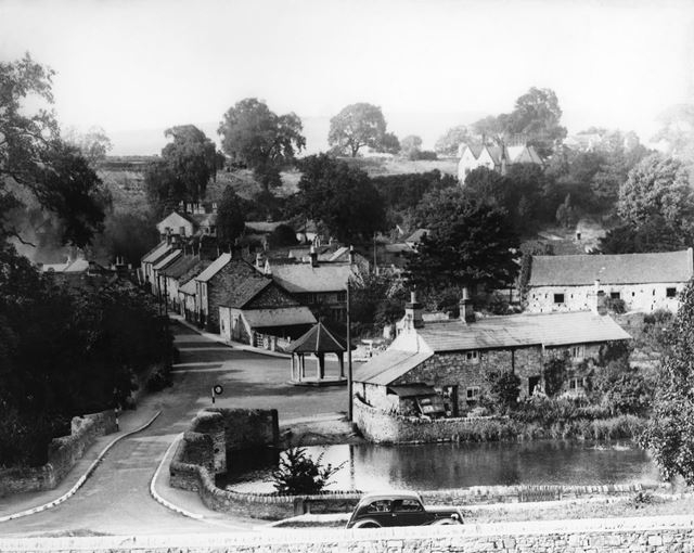 View of village, Ashford in the Water, c 1940s ?