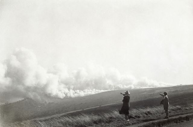 Possible wartime smoke testing, Owler Bar, 1939-45