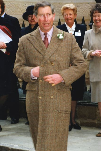 Prince Charles arriving at the newly-renovated Adams Building, 1999