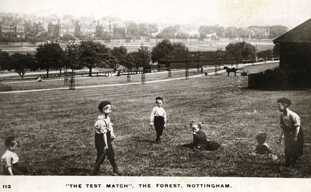 'The Test Match', Forest Recreation Ground, Nottingham, c 1890 ?