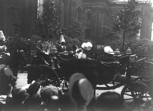 King George V and Queen Mary's visit to Nottingham, 1914