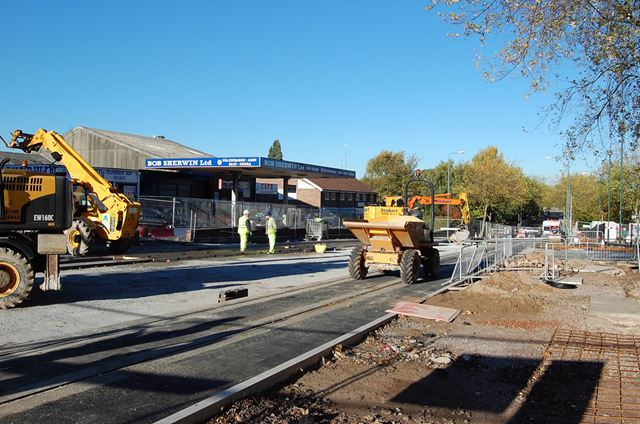 Extension of the NET Tram System, Southchurch Drive, Clifton, Nottingham, 2013