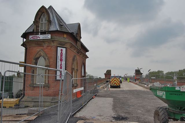 Extension of the NET Tram System, Wilford Toll Bridge, Wilford, Nottingham, 2014