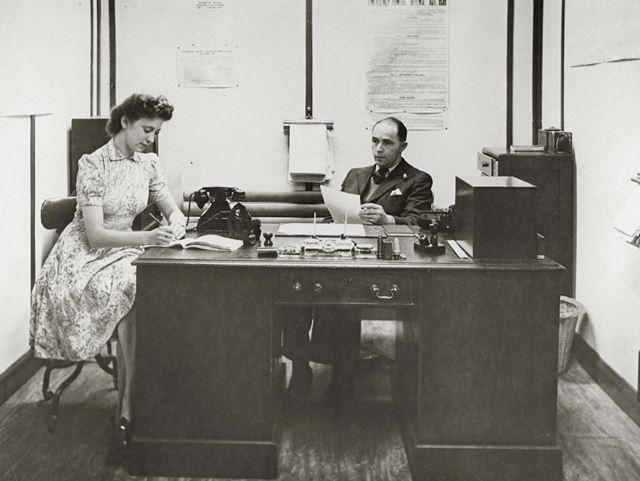 Security office, Collaro ltd., Derby Road, Langley Mill, c 1944