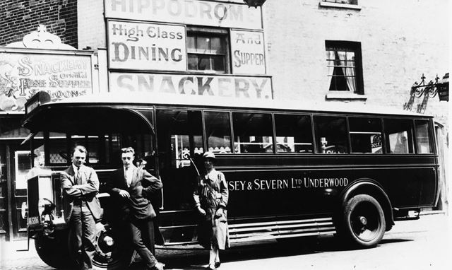 View of bus service - (believed to be taken in Nottingham)