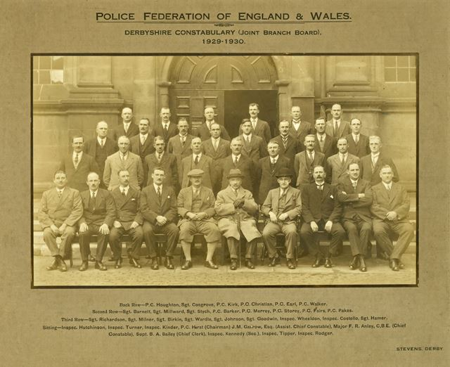 Police Federation- Derbyshire Constabulary (Joint Branch Board) 1929-1930