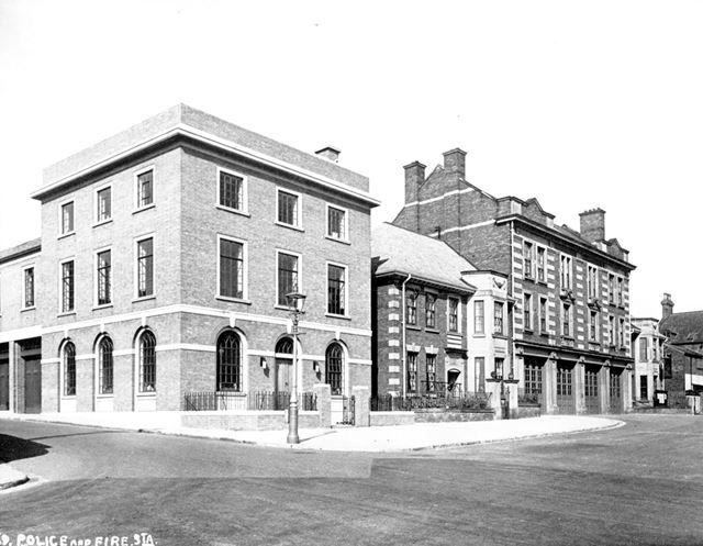 Police Station and Fire station, New Beetwell Street, Chesterfield, c 1930's
