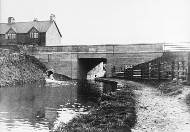 Lockoford Lane canal bridge after reconstruction, Tapton, Chesterfield, 1931