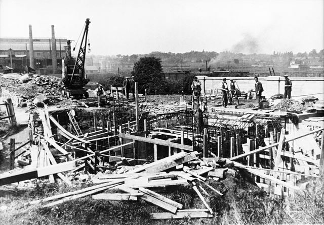Lockoford Lane canal bridge after reconstruction, Tapton, Chesterfield, 1930-31