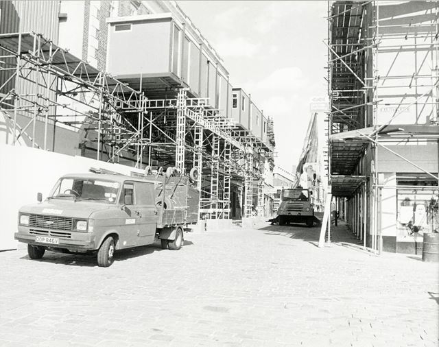 Marks and Spencer Reconstruction, High Street, Chesterfield, c 1970s
