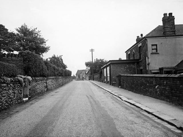 Broomhill Road Before Improvements, Old Whittington, Chesterfield, c 1952-53