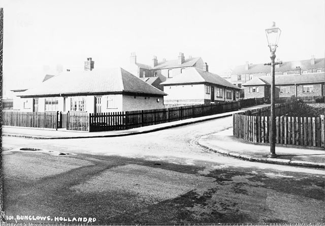 Old People's Bungalows, High Street, Old Whittington, Chesterfield, c 1930s