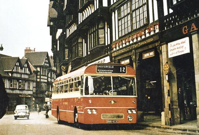 East Midland Bus, Knifesmithgate, Chesterfield, c 1965