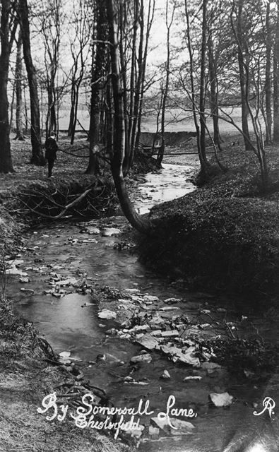 River Hipper, Somersall, Chesterfield, c 1900