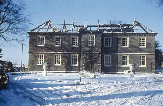 Refurbishment of Library Front View, Manor House, High Street, Dronfield, c 1969