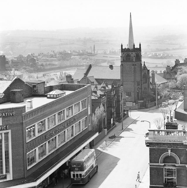 View from St Mary's Church Tower, Ilkeston, 1968