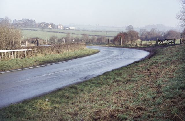 Cossall Road and the Robbinetts Arm of the Nottingham Canal, Cossall, 1984