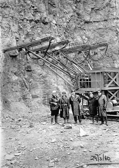 S Taylor Firth and Co Quarries, Dove Holes, Derbyshire 1960