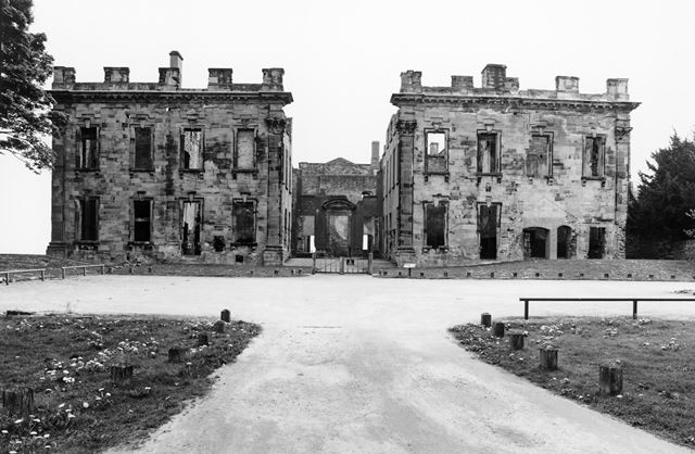 Ruins of West Front of Sutton Scarsdale Hall, Hall Drive, Sutton Scarsdale, 2008
