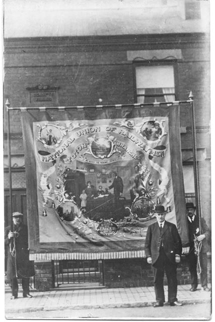 Banner of National Union of Railwaymen, Toton Branches, Long Eaton, c 1900s